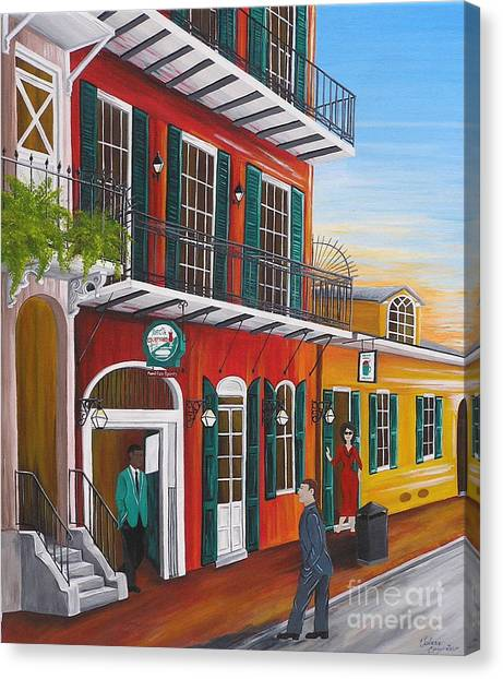 Pat O's Courtyard Entrance Canvas Print