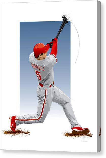 Pat The Bat Burrell Canvas Print