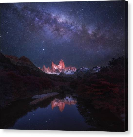South American Canvas Print - Patagonia Autumn Night by Yan Zhang