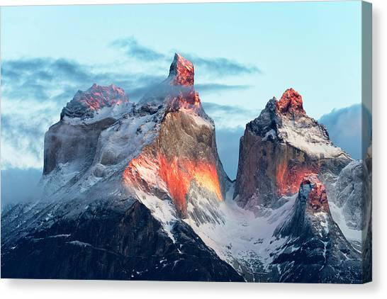 South American Canvas Print - Patagonia, That Magic Light by Carlos Guevara Vivanco