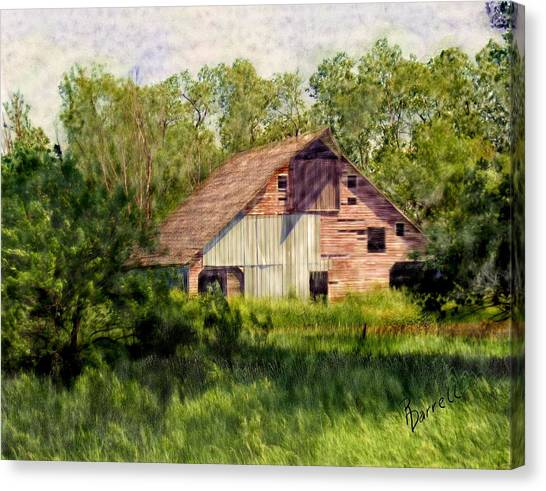 Patchwork Barn Canvas Print