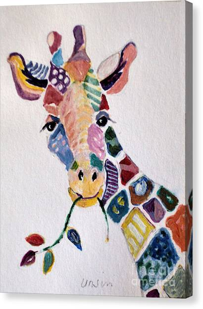 Patchwork Giraffe Canvas Print