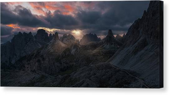 Mountain Ranges Canvas Print - Paterno by David Mart?n Cast?n