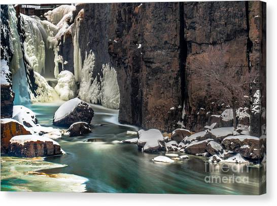 Paterson Falls Frozen Fantasy Canvas Print