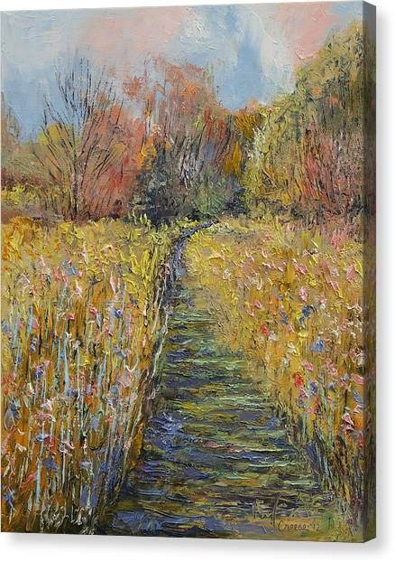 The Prado Canvas Print - Path In The Meadow by Michael Creese