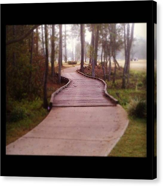 Sports Canvas Print - Path by Scott Pellegrin