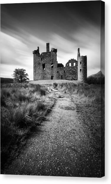 Castles Canvas Print - Path To Kilchurn Castle by Dave Bowman