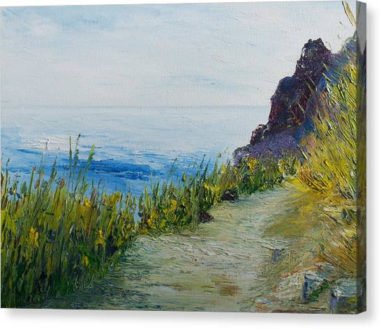 Path To Lovers Cove Canvas Print