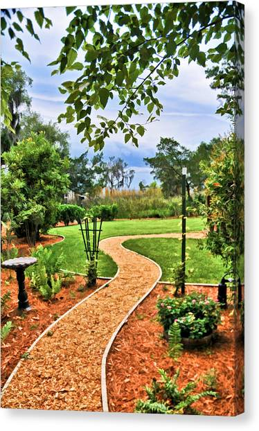 Garden Path To Wild Marsh Canvas Print