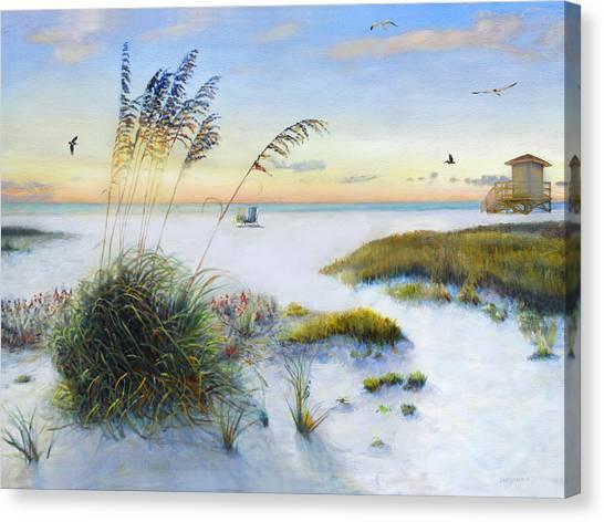 Lifeguard Canvas Print - Path To Siesta Key Beach by Shawn McLoughlin