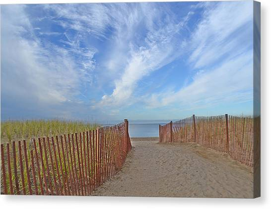 Path To The Beach Canvas Print by Marjorie Tietjen