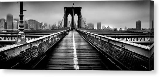 Long Street Canvas Print - Path To The Big Apple by Az Jackson