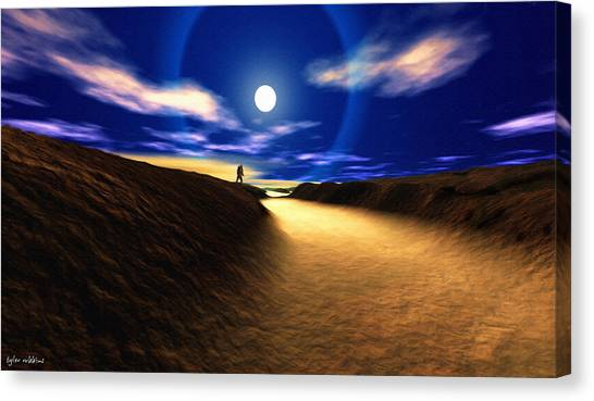 Path To The Moon Canvas Print