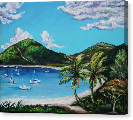 Islands Art Canvas Print - Path To White Bay  by Eve  Wheeler