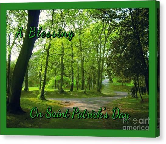 Pathway Saint Patrick's Day Greeting Canvas Print