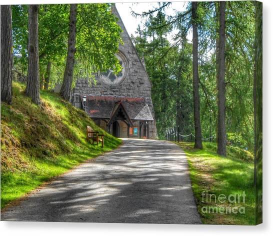 Pathway To Crathie Church Canvas Print