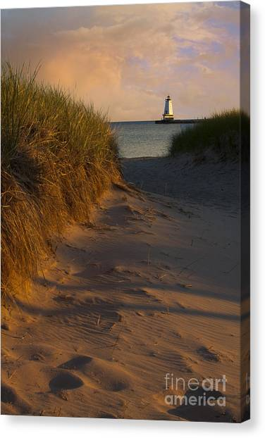 Pathway To Lighthouse Canvas Print