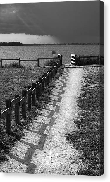 Tampa Bay Rays Canvas Print - Pathway To The Beach by Marvin Spates