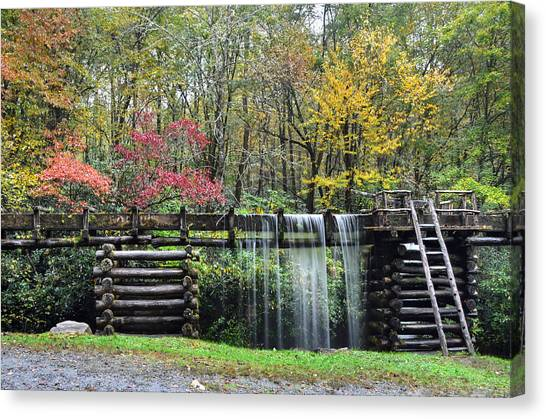 Pathway To The Mill Canvas Print by Mary Anne Baker