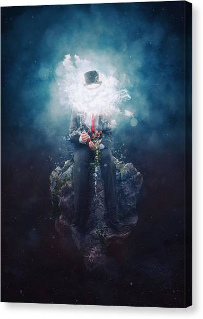 Raining Canvas Print - Patience by Mario Sanchez Nevado