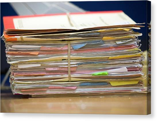 Folders Canvas Print - Patient Records by Mark Thomas/science Photo Library