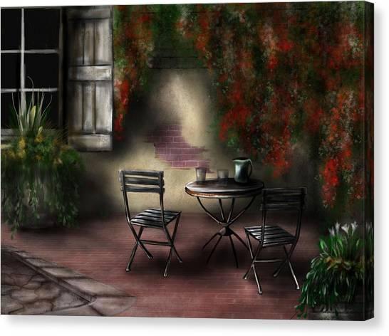 Patio Garden Canvas Print