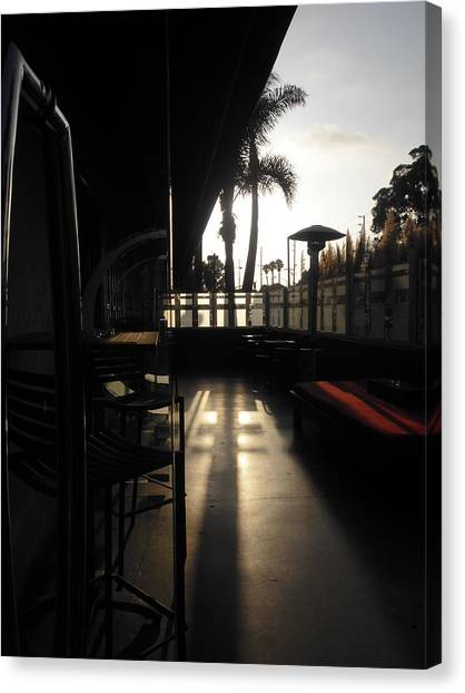 Patio Sunset Canvas Print by Bruce Sommer