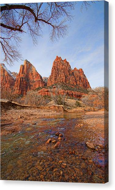 Patriarchs Of Zion Canvas Print by Rick Lewis