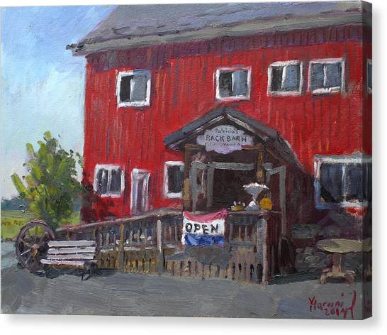 Back Canvas Print - Patricia's Back Barn by Ylli Haruni