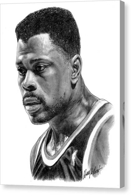 New York Knicks Canvas Print - Patrick Ewing by Harry West