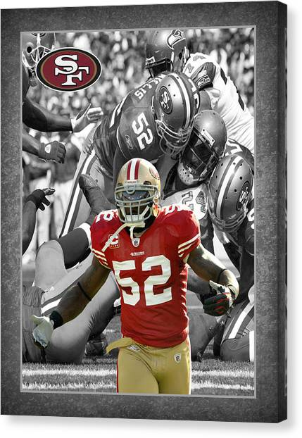 San Francisco 49ers Canvas Print - Patrick Willis 49ers by Joe Hamilton