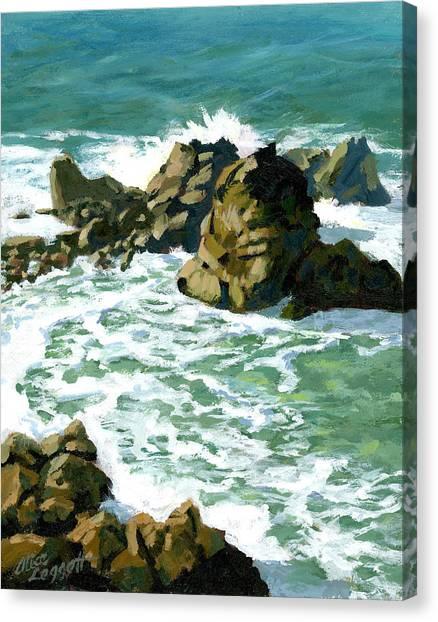 Patrick Canvas Print - Patricks Point Rocks by Alice Leggett