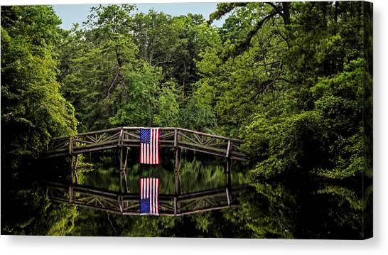 Patriotic Bridge Canvas Print