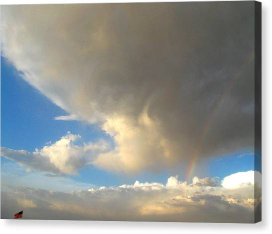 Patriotic Rainbow Clouds Canvas Print