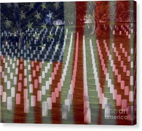 Canvas Print featuring the photograph Patriotism by Patti Whitten