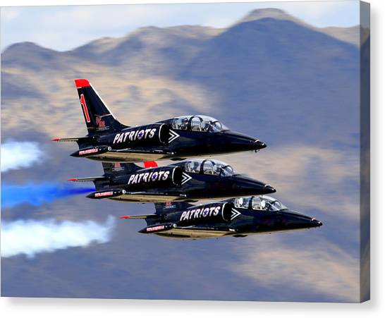 Patriots Perform At Reno Air Races Canvas Print
