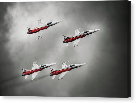 Air Force Canvas Print - Patrouille Suisse by Leon
