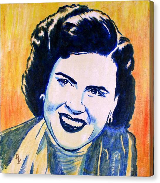 Patsy Cline Pop Art Painting Canvas Print