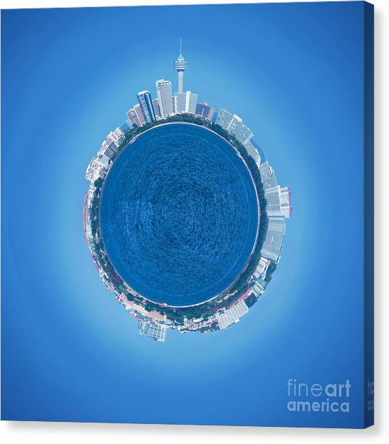 Planet Canvas Print - Pattaya World by Atiketta Sangasaeng
