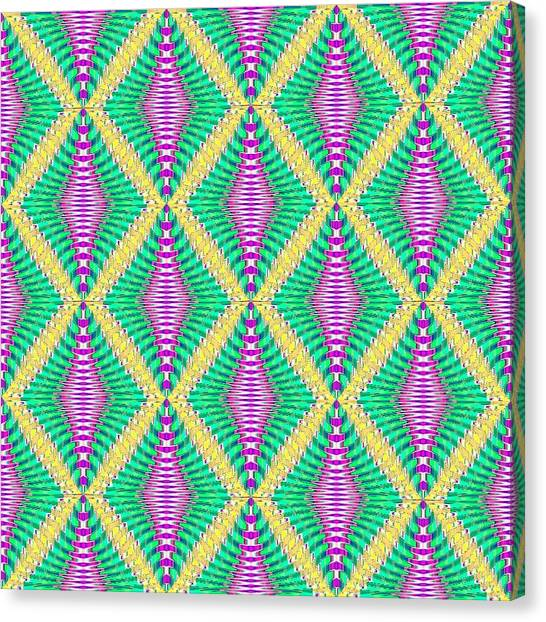 Art Deco Canvas Print - Pattern /pink Edit by Candy Floss Happy