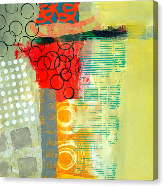 Collage Canvas Print - Pattern Study #3 by Jane Davies