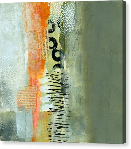 Collage Canvas Print - Pattern Study Nuetral 1 by Jane Davies