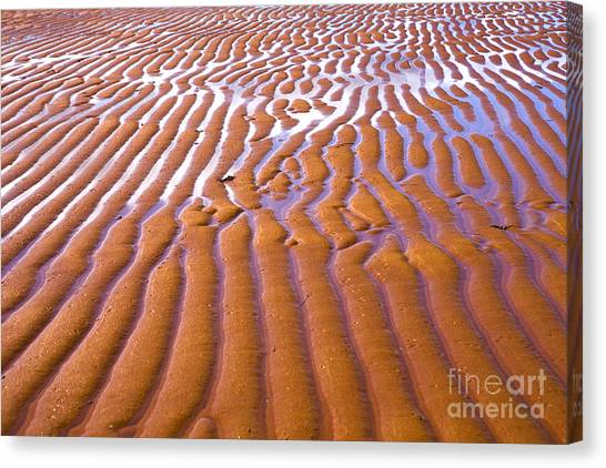 Low Tide Canvas Print - Patterns In The Sand by Diane Diederich