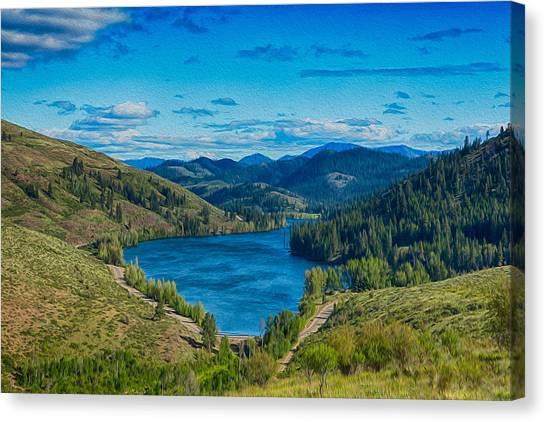 Canvas Print featuring the photograph Patterson Lake In The Summer by Omaste Witkowski