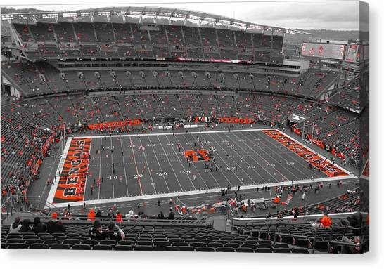 Cincinnati Bengals Canvas Print - Paul Brown Stadium by Dan Sproul