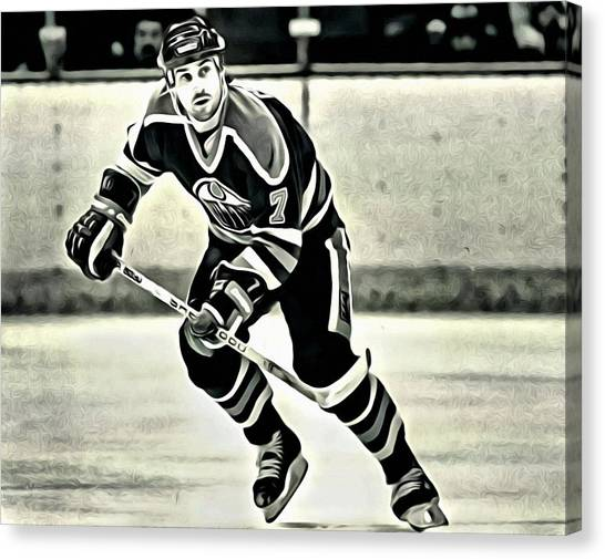 Edmonton Oilers Canvas Print - Paul Coffey by Florian Rodarte