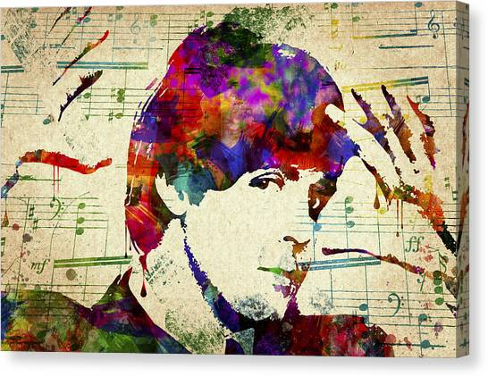 George Harrison Canvas Print - Paul Mccartney by Aged Pixel