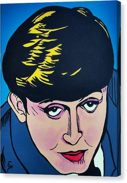 Paul Mccartney  Cartoon Canvas Print