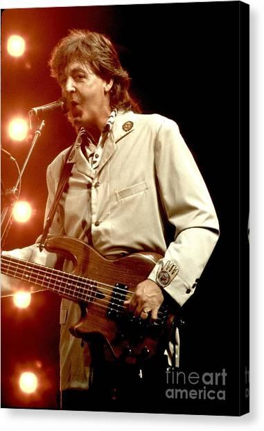 Paul Mccartney Canvas Print - Paul Mccartney by Concert Photos