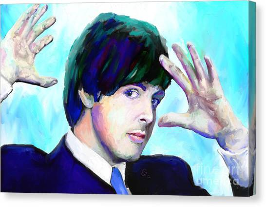 Paul Mccartney Of The Beatles Canvas Print by G Cannon